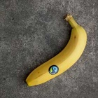 Banane mit Fairtrade-Logo