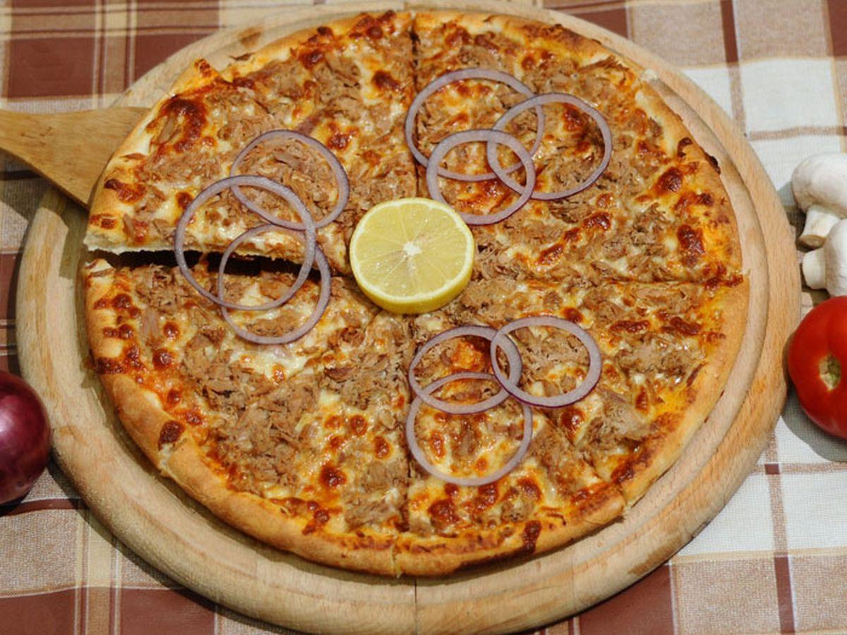 Fischstäbchen Pizza